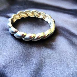 Chunky Silver bracelet adjustable